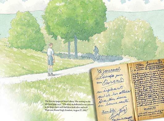 "Illustration from ""Peter's War"" by Deborah Durland DeSaix and Karen Gray Ruelle"